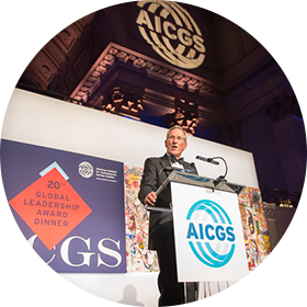 AICGS GLAD Speaker with backdrop