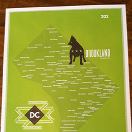 Poster Washington DC neighborhoods by openbox9