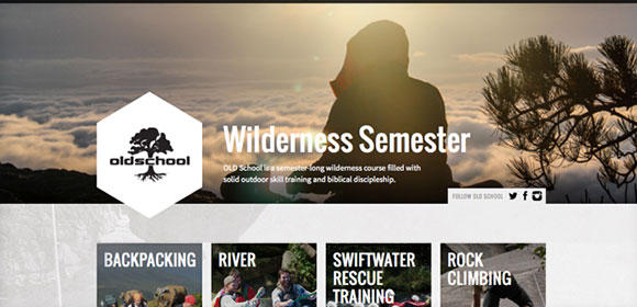 Snowbird Wilderness Outfitters web page design