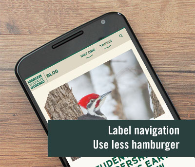 Labling menu items means improved usability
