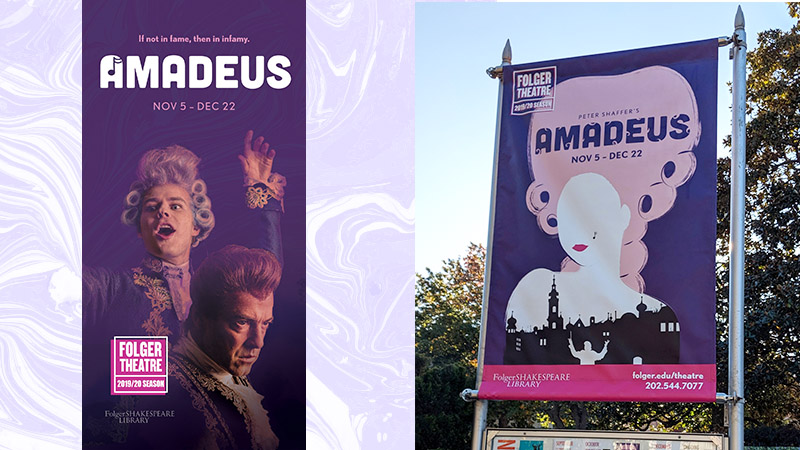 Peter Shaffer's Amadeus artwork and design