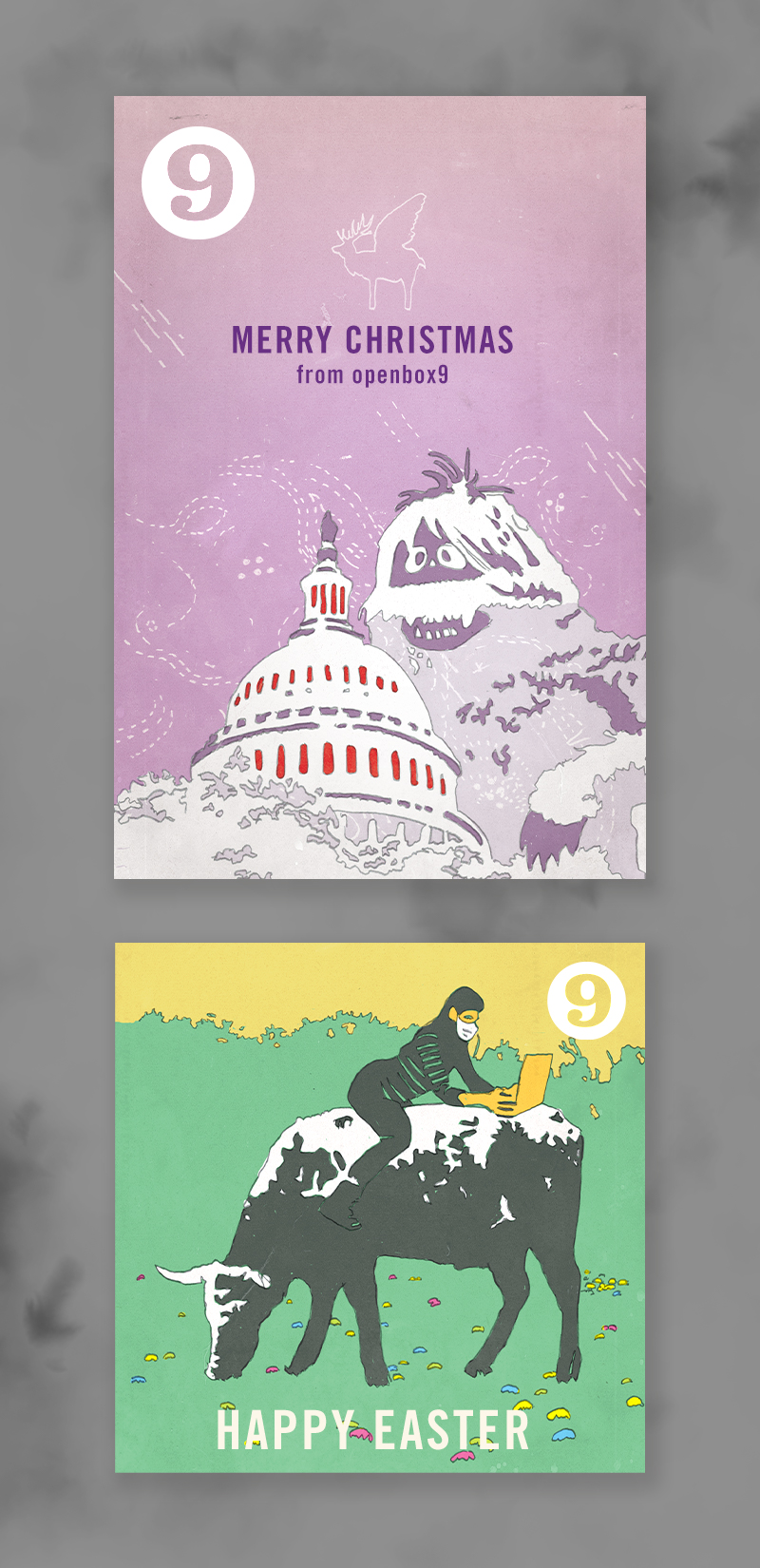 Holiday cards for openbox9