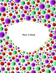 Covid Wear a Mask Germ icons