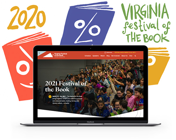 Virginia Humanities - Festival of the Book homepage and graphics