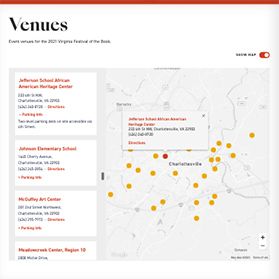Virginia Humanities - Festival of the Book venue map